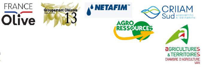 logo de france Olive Go13 Netafim CRIIAM SUD CA83 Agroressources