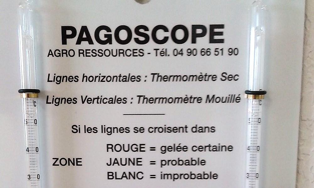 Le Pagoscope: outil de prévision du risque de gel